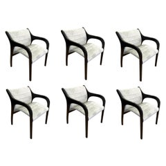 Set of Six Claudio Salocchi Dining Chairs