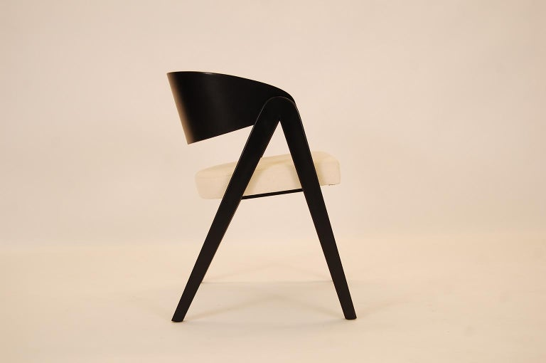 Mid-Century Modern Set of Six Compass Dining Chairs Designed by Allan Gould For Sale