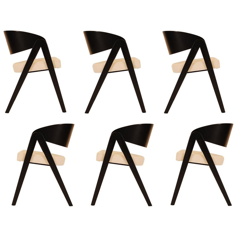 Set of Six Compass Dining Chairs Designed by Allan Gould For Sale