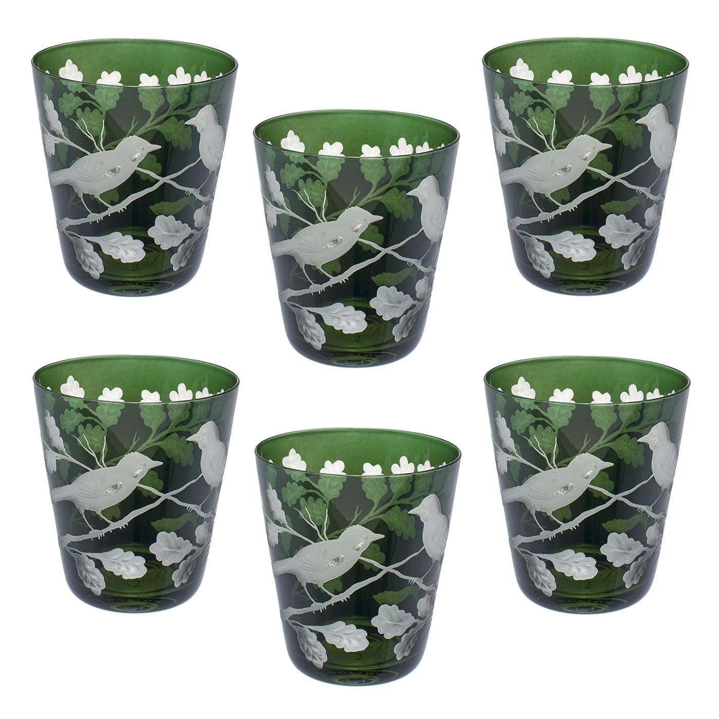 Set of Six Country Style Glass Tumbler with Birds Sofina Boutique Kitzbuehel