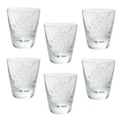 Set of Six Country Style Glass Tumbler with Fern Sofina Boutique Kitzbühel