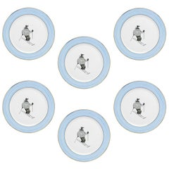 Set of Six Country Style Hand Painted Breakfast Plates Sofina Boutique Kitzbühel