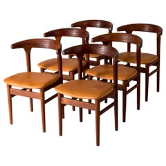 "Set of Six ""Cowhorn"" Chairs by Torbjørn Afdal"