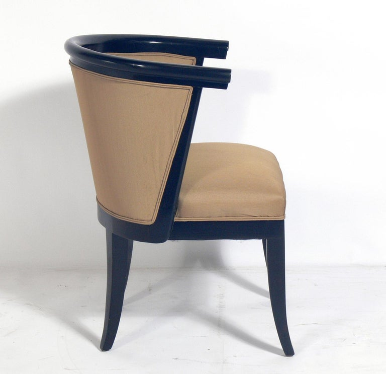 Mid-Century Modern Set of Six Curvaceous Dining Chairs by RomWeber For Sale