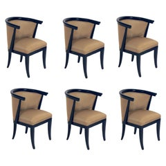 Set of Six Curvaceous Dining Chairs by RomWeber