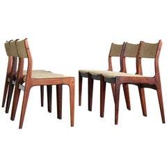 Set of Six Danish Classic Midcentury Dining Chairs in Rosewood by Uldum