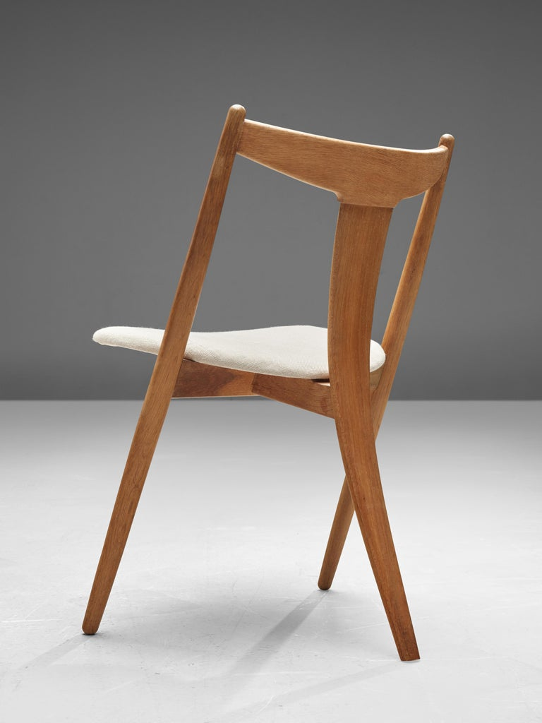 Scandinavian Modern Set of Six Danish Dining Chairs in Teak and Oak For Sale