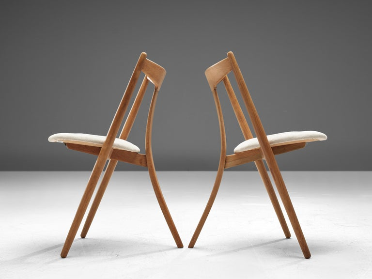 Mid-20th Century Set of Six Danish Dining Chairs in Teak and Oak For Sale