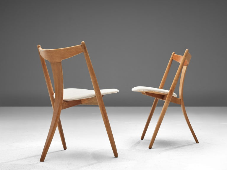 Set of Six Danish Dining Chairs in Teak and Oak For Sale 1