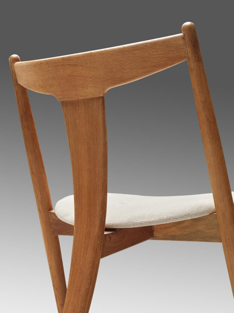 Set of Six Danish Dining Chairs in Teak and Oak For Sale 2
