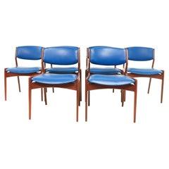 Set of Six Danish Erik Buch Teak Dining Chairs, Mid Century