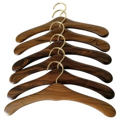Set of Six Danish Hardwood Coat Hangers