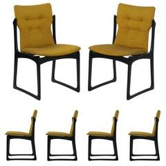 Set Of Mid Century Modern Style Danish Teak Dining Chairs