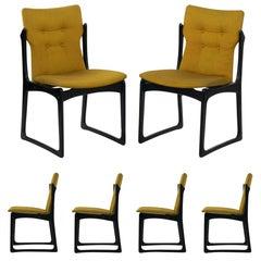 Set of Six Danish Mid-Century Modern Dining Chairs by Stolefabrik, circa 1960s