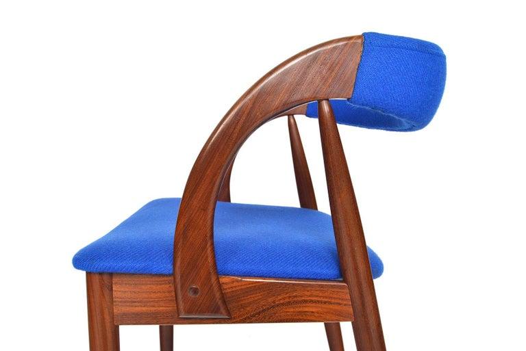 Set of Six Danish Mid-Century Modern Walnut Dining Chairs 4