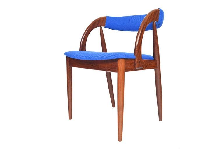 Set of Six Danish Mid-Century Modern Walnut Dining Chairs 5