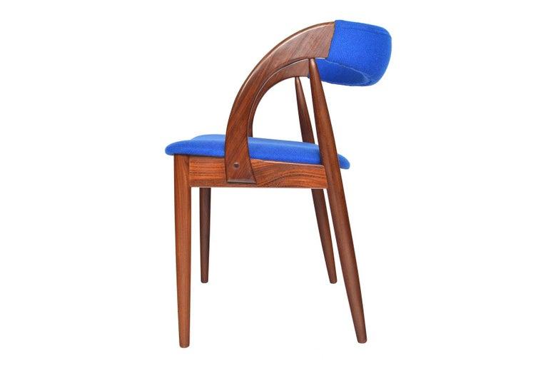 Set of Six Danish Mid-Century Modern Walnut Dining Chairs 3