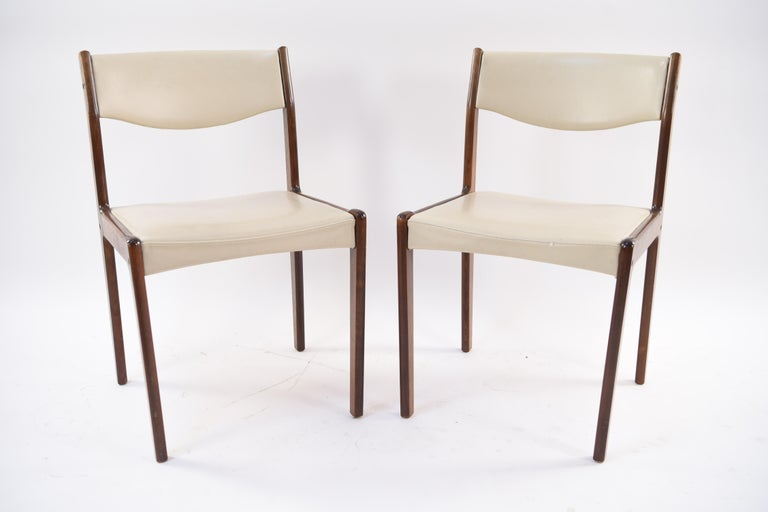 Set of Six Danish Midcentury Rosewood Dining Chairs by Sax 5
