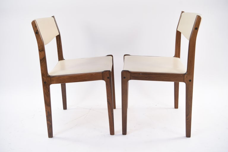 Set of Six Danish Midcentury Rosewood Dining Chairs by Sax 6
