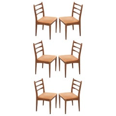 Set of Six Danish Modern Maple Side Chairs