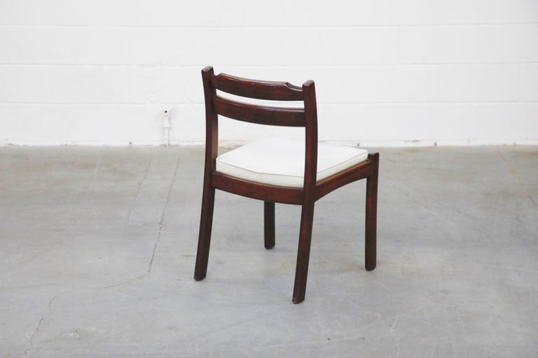 Set of Six Danish Modern Rosewood Dining Chairs by Dyrlund, circa 1960s, Signed 7