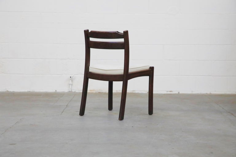 Set of Six Danish Modern Rosewood Dining Chairs by Dyrlund, circa 1960s, Signed 8