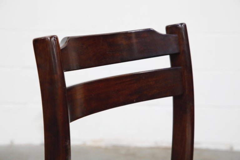 Set of Six Danish Modern Rosewood Dining Chairs by Dyrlund, circa 1960s, Signed 9