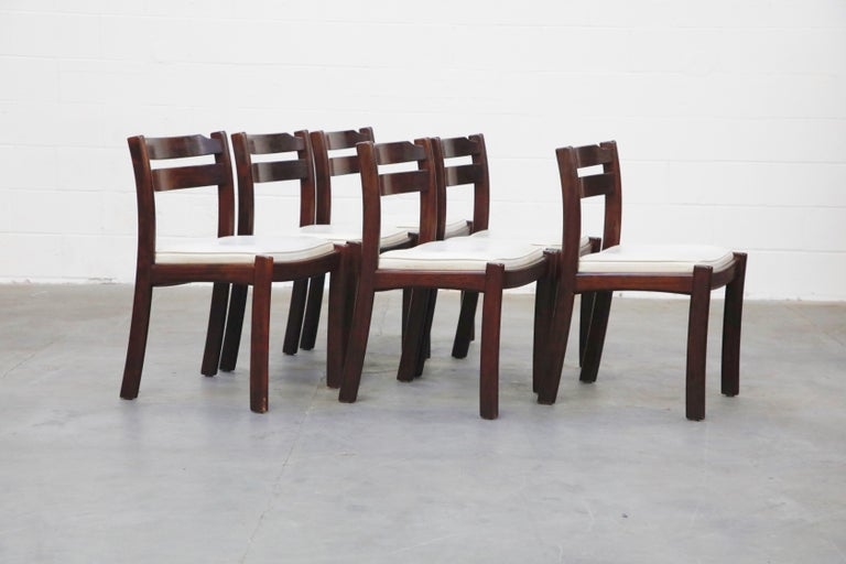 Set of Six Danish Modern Rosewood Dining Chairs by Dyrlund, circa 1960s, Signed In Good Condition In Los Angeles, CA