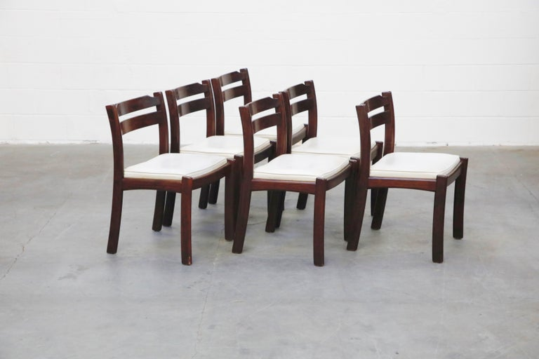 Mid-20th Century Set of Six Danish Modern Rosewood Dining Chairs by Dyrlund, circa 1960s, Signed