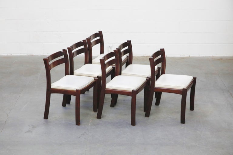 Set of Six Danish Modern Rosewood Dining Chairs by Dyrlund, circa 1960s, Signed 1
