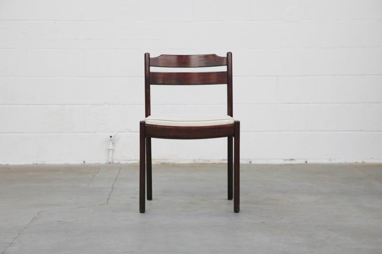 Set of Six Danish Modern Rosewood Dining Chairs by Dyrlund, circa 1960s, Signed 3