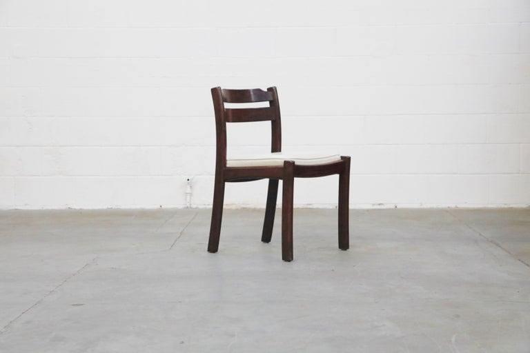 Set of Six Danish Modern Rosewood Dining Chairs by Dyrlund, circa 1960s, Signed 4