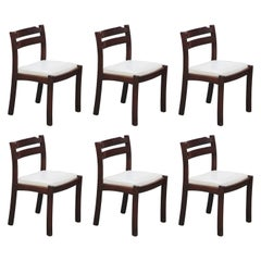 Set of Six Danish Modern Rosewood Dining Chairs by Dyrlund, circa 1960s, Signed