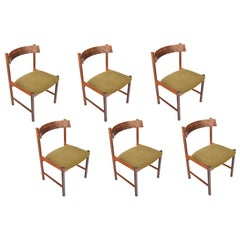 Set of Six Danish Modern Rosewood Dining Chairs