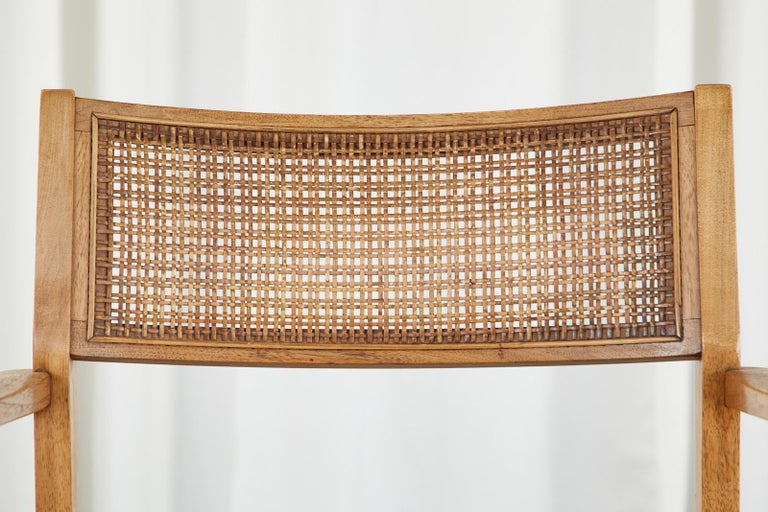 Set of Six Danish Modern Style Walnut Dining Chairs 2