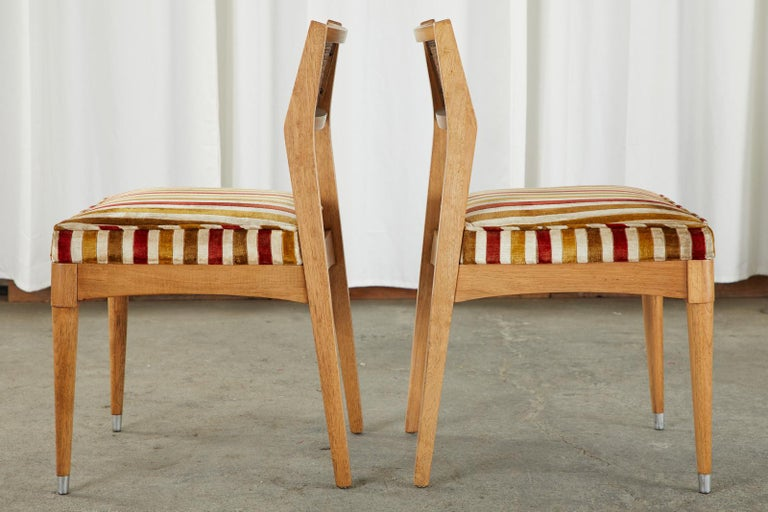 Set of Six Danish Modern Style Walnut Dining Chairs 5