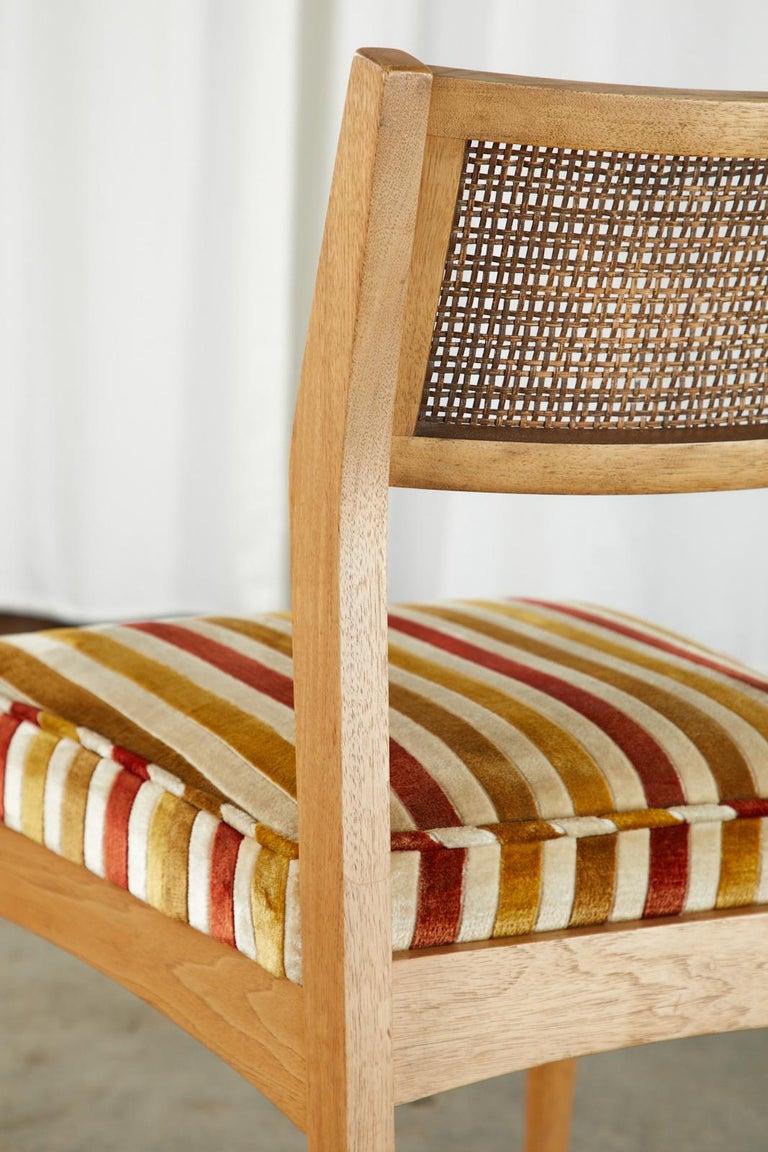 Set of Six Danish Modern Style Walnut Dining Chairs 9