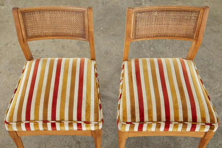Set of Six Danish Modern Style Walnut Dining Chairs 10