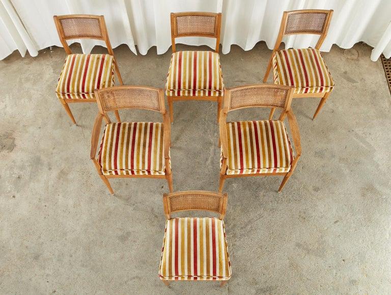 Mid-Century Modern Set of Six Danish Modern Style Walnut Dining Chairs