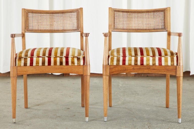 Hand-Crafted Set of Six Danish Modern Style Walnut Dining Chairs