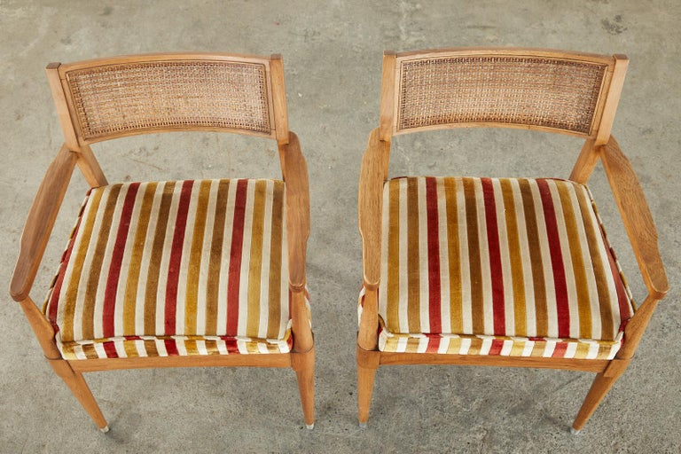 Set of Six Danish Modern Style Walnut Dining Chairs In Good Condition In Rio Vista, CA