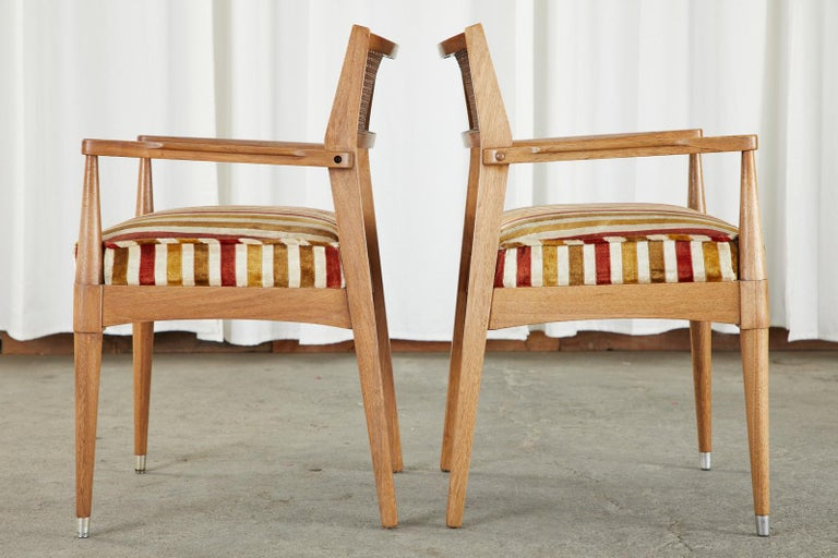 20th Century Set of Six Danish Modern Style Walnut Dining Chairs