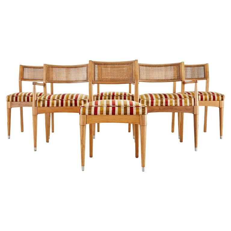 Set of Six Danish Modern Style Walnut Dining Chairs