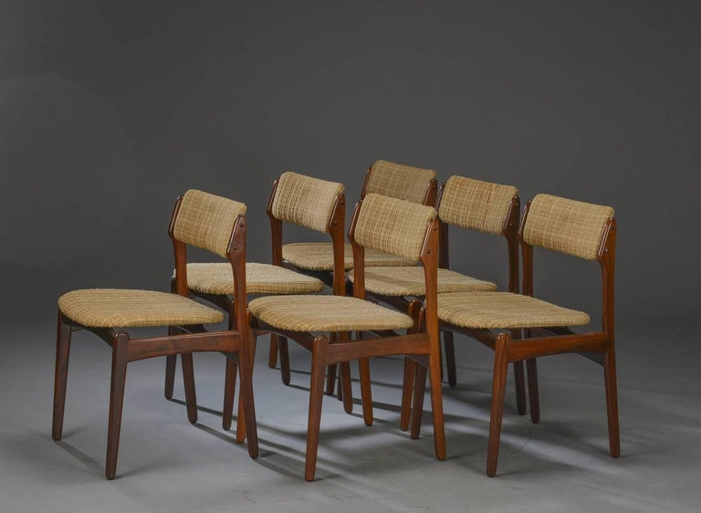 Set of Six Danish Rosewood Dining Chairs by Erik Buch In Good Condition For Sale In Vienna, AT