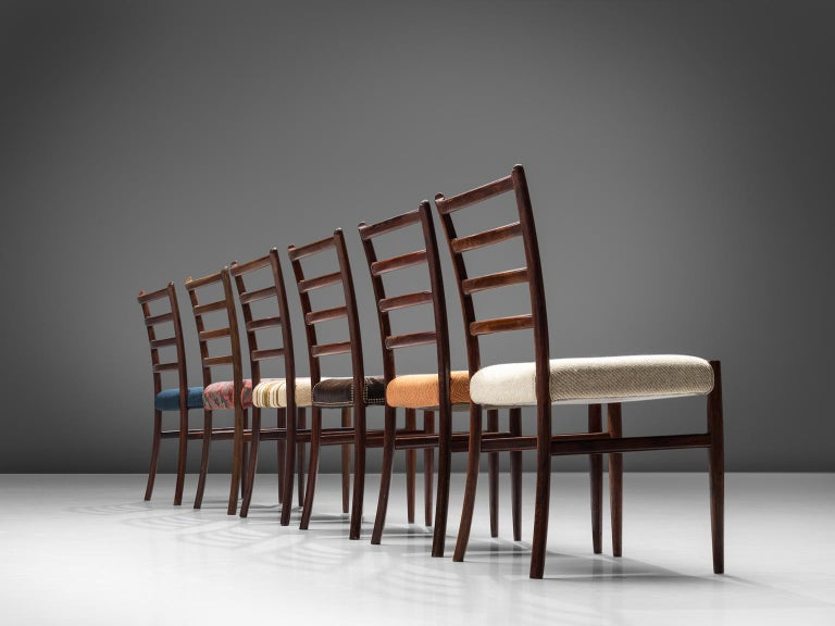 Set of Six Danish Rosewood Dining Chairs In Good Condition In Waalwijk, NL