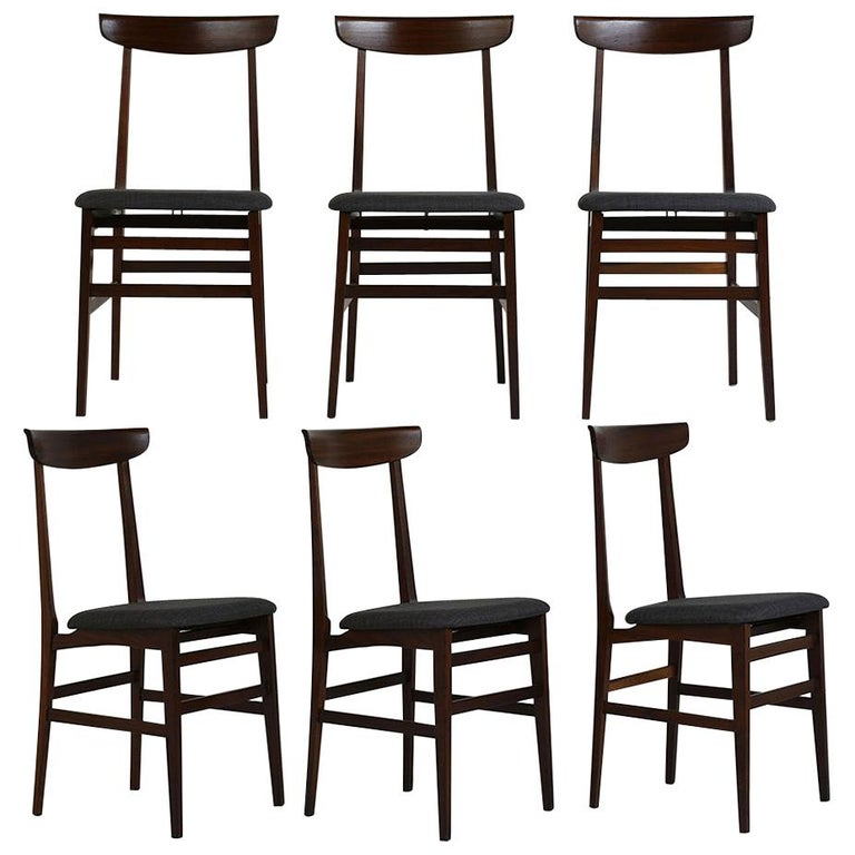 Rosewood Dining Room Set: Set Of Six Danish Rosewood Dining Room Chairs For Sale At