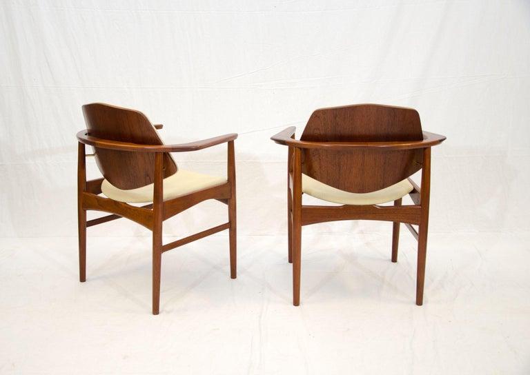 Set of Six Danish Teak Dining Chairs, Arne Hovmand Olsen For Sale 5