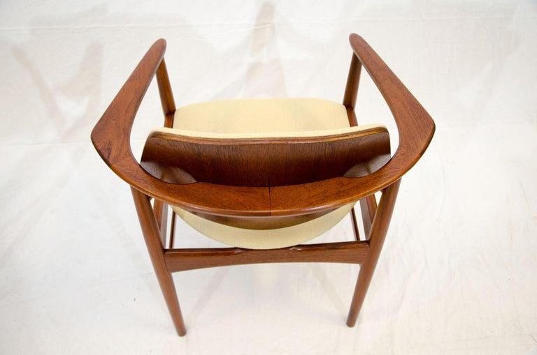 Set of Six Danish Teak Dining Chairs, Arne Hovmand Olsen For Sale 7