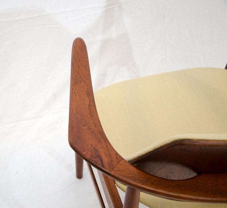 Set of Six Danish Teak Dining Chairs, Arne Hovmand Olsen For Sale 8