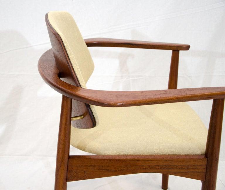 Set of Six Danish Teak Dining Chairs, Arne Hovmand Olsen For Sale 9